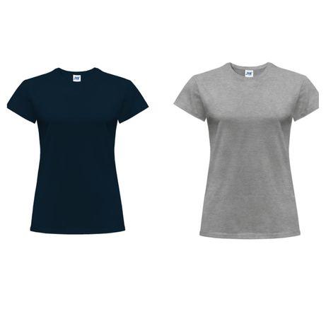T-shirt damski JHK granatowy i szary rozmiar S Nowy