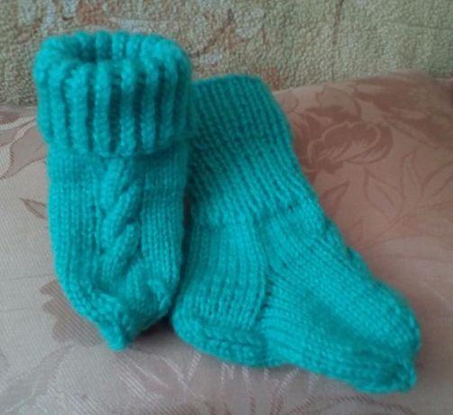 Продам вязанные теплые детские носочки
