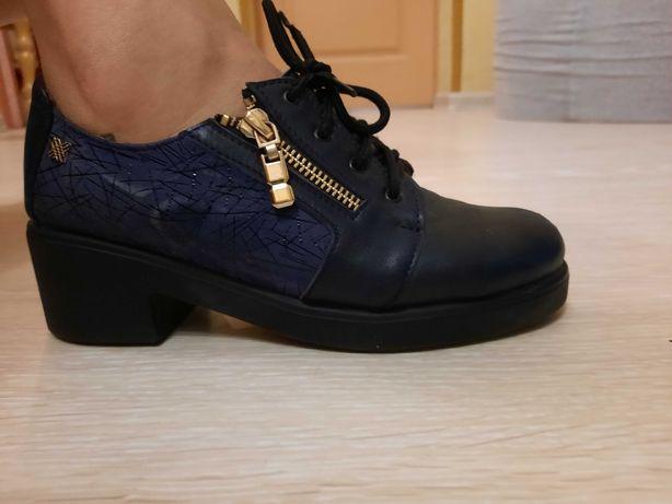Кожаные ботинки, туфли, ботиночки