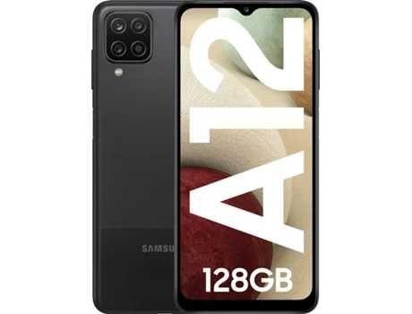 Smartphone SAMSUNG Galaxy A12 (6.5'' - 128 GB - Preto) + CAPA [NOVO]