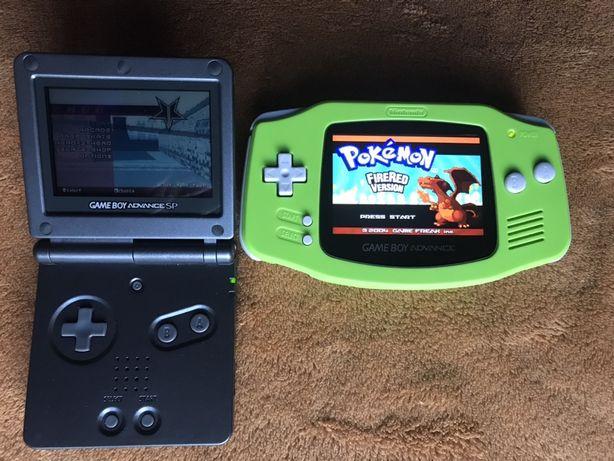 Gameboy Advance + gry GBA ekran LCD nowy - lepszy od SP