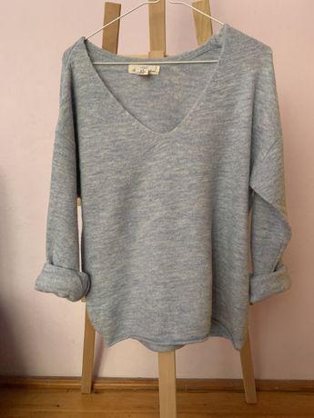 Błękitny sweter H&M, rozmiar XS, jak nowy