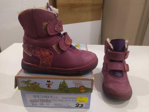Kozaki  buty skórzane zimowe r.23 Mazurek