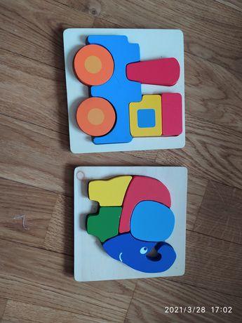Układanki drewniane alfabet gry