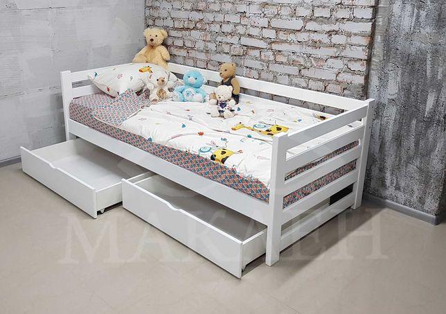 Букове односпальне ліжко 90 на 200