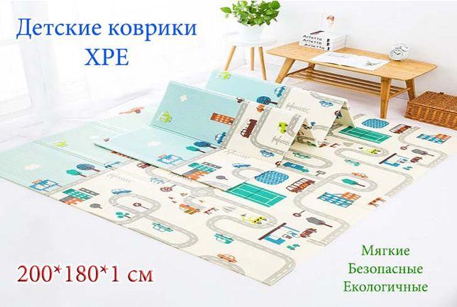 Детский игровой коврик XPE, развивающий, антискользящий + Сумка