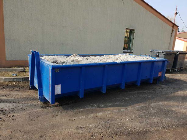 Kontener kontenery na gruz, odpady budowlane, papa, styropian