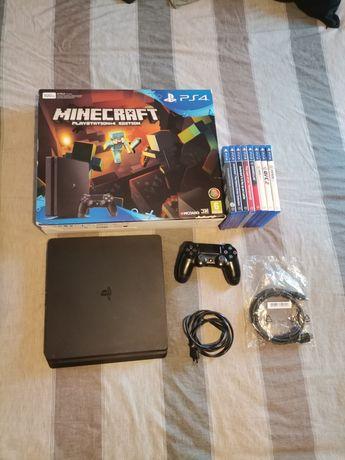 PS4 Slim 500gb c/caixa + 10 jogos