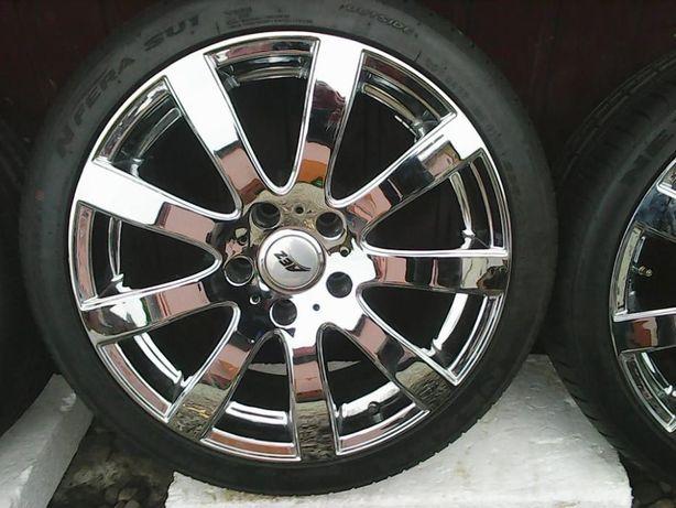 4 Koła Alufelgi Nowe Opony e60 e39 BMW 5 225 40 R18 IS18 5x120 4x8/9mm