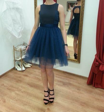 Granatowa sukienka 36 sylwester/studniówka/bal