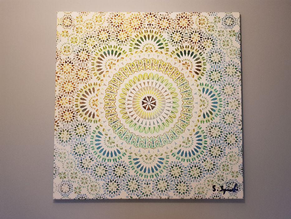 Obraz - wydruk na płótnie 95x95cm - Mandala Warszawa - image 1