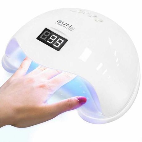 Лампа для маникюра SUN 5 LED+UV, 48 Вт, White (белая)
