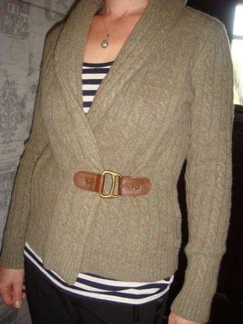 Ralph Lauren, wełniany, zapinany sweterek/ rozm. 36
