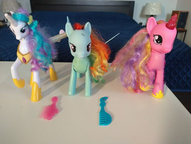 My Little Pony interaktywne Celestia Cadence Rainbow Dash