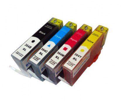Conjunto 4 Tinteiros Compatíveis HP- 364 -BK/C/M/Y