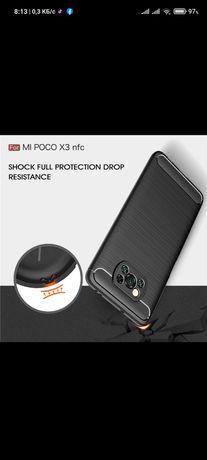Чехол для Xiaomi Poco X3 Pro противоударный силиконовый армированный