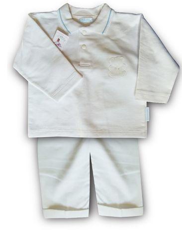 Komplet dla chłopca z aplikacją w kolorze białym R74