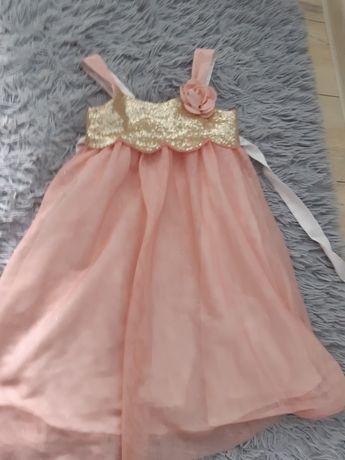 Elegancka sukienka h&m roz 3-4 latka