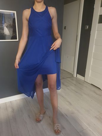 Chabrowa sukienka maxi 36