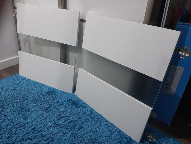 Ikea Besta fronty witryna biały połysk 60x64cm