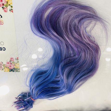 Волосы для наращивание натуральные славянские,вымываются в блонд ,б/у