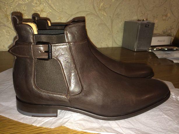 Мужские Ботинки,челси,черевики,Vince,Италия,кожа
