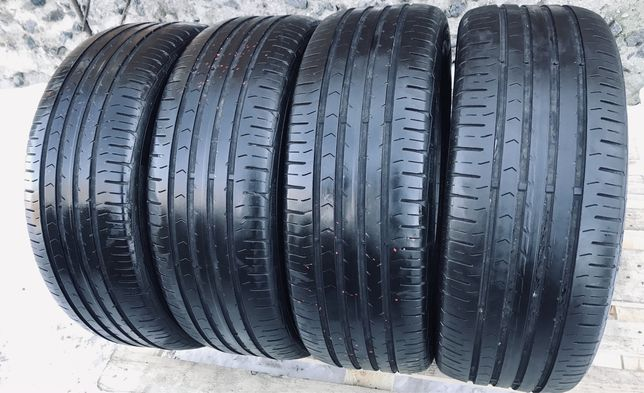 Continental 215/55r17 4 шт лето резина шины б/у склад