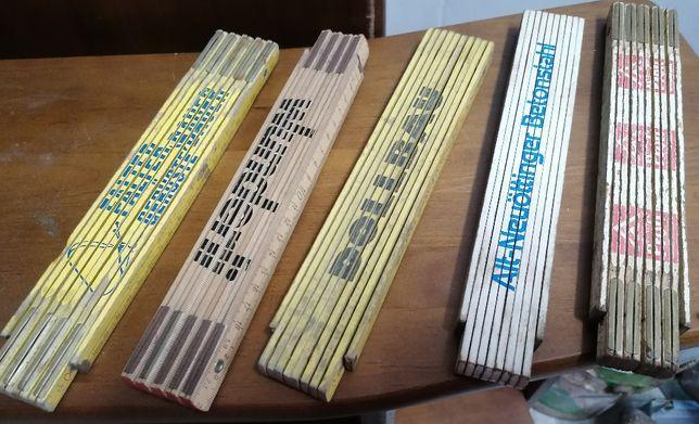 Metros de madeira de carpinteiro de 2m ( 5 un )