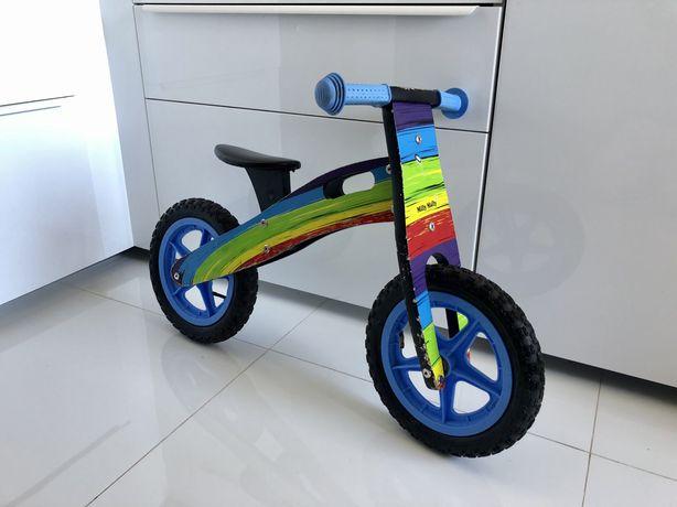 Milly Mally ROWER rowerek biegowy tęczowy Rumia Trójmiasto drewniany