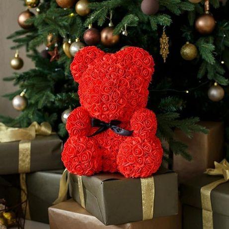 Mis z róż prezent na Mikołajki na ŚWIĘTA urodziny produkt POLSKI