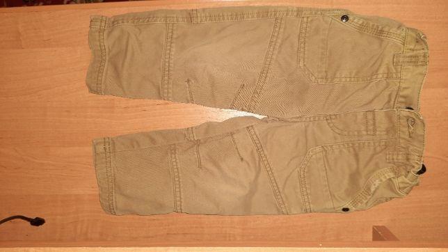 Штаны, джинс, мальчику на 18-24 месяца песочного цвета