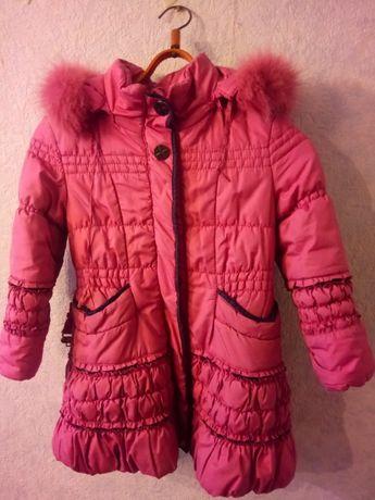 Бесплатная доставка! Куртка пальто пуховик 5-7 лет курточка