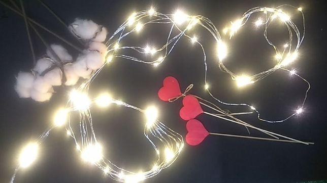 Гирлянда Конский Хвост 200 ламп теплый белый