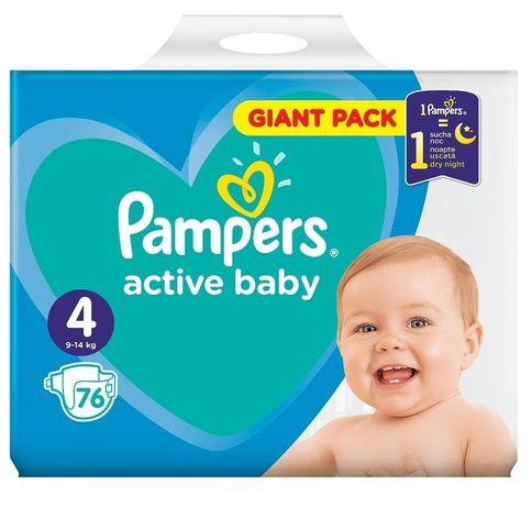 Памперси, Pampers active baby 4, 6, підгузники