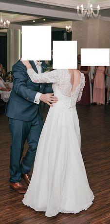 suknia ślubna Afrodyta długi rękaw 36