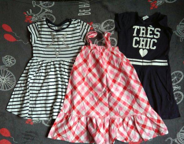 Next, H&M, - 3 sukienki letnie 110-116