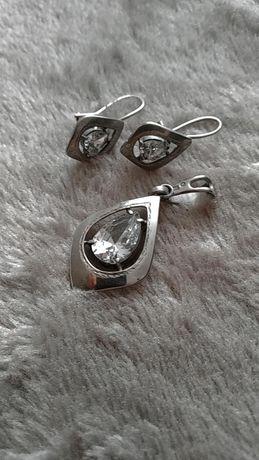 Srebrny komplet biżuterii 925