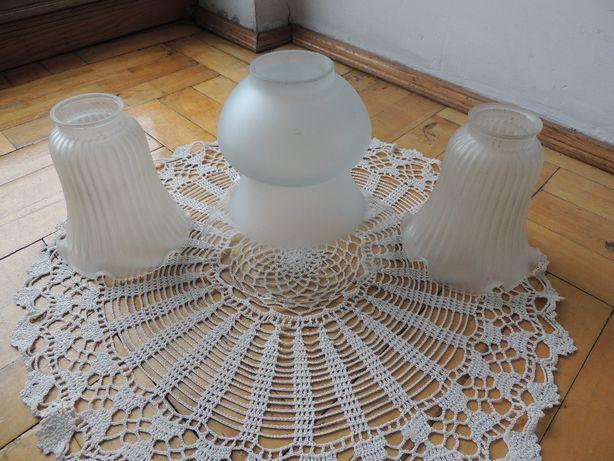 Szklane klosze do lamp, żyrandoli różne wzory i ilości