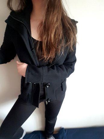 jak nowa kurtka czarna wełniana Avanti rozmiar S/M 36 38 czarna wiosna