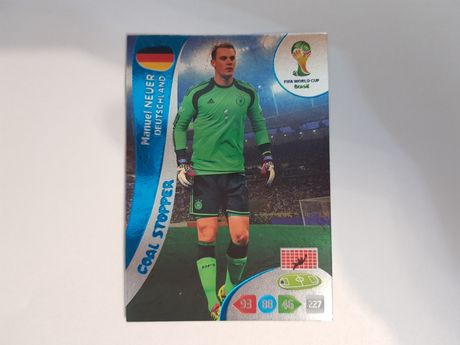 NEUER Goal Stopper Fifa World Cup Brasil 2014 Panini