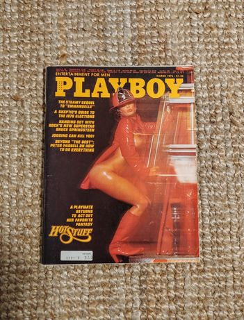 Czasopismo Playboy 1976 retro vintage bdb stan! Kompletny z plakatem