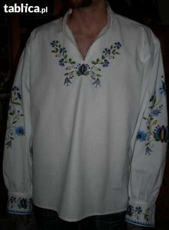 Koszula męska z haftem kaszubskim