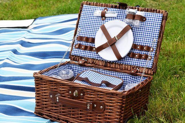 Набор для пикника 4 персоны корзина с термосумкой кошик для кемпінгу