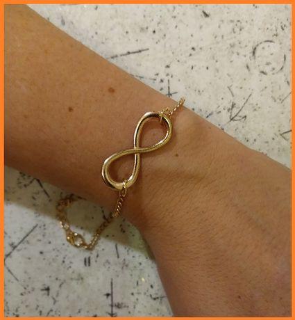 NOWA złota bransoletka NIESKOŃCZONOŚĆ na prezent dla ukochanej