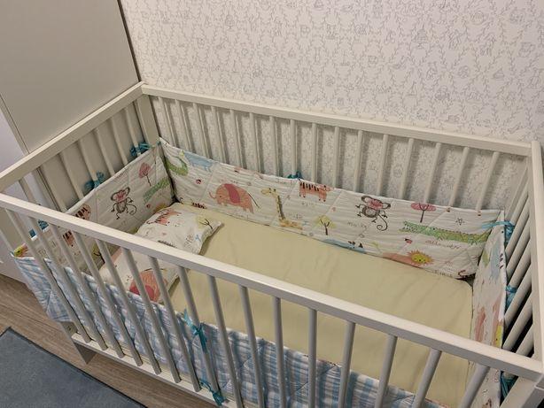 Кроватка Ikea, 120*60 и матрас