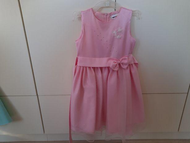 Sukienka różowa elegancka 116