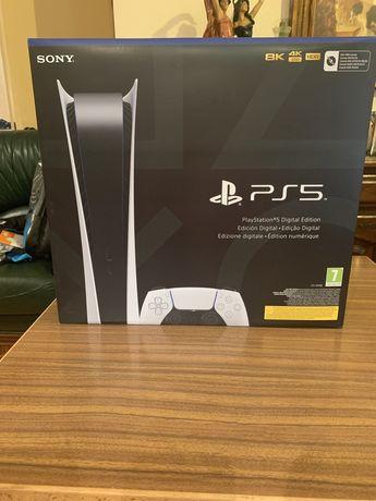 Consola Playstation 5 edição digital como NOVA com fatura e GARANTIA