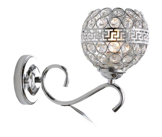 Lampa sufitowa chrom plafon kryształki LED żyrandol plafon