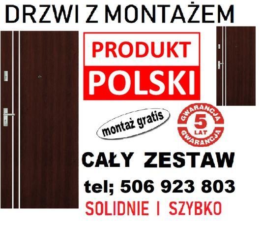 Drzwi wejściowe-zewnętrzne do MIESZKANIA w bloku.TANIO!! Z montażem.