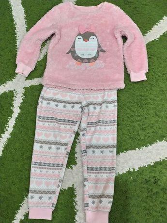 Тёплая пижама. Домашний костюм . 6-7 лет.+ подарок